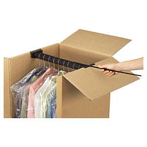 Caja armario para ropa rajapack for Cajas de carton para mudanzas