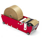 Manual gummed paper tape dispensers