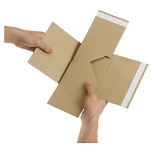 Flexible Multimedia-Versandverpackung, braun