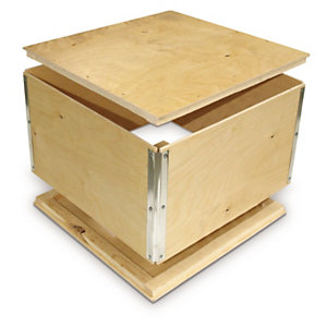 Foldable plywood export boxes