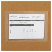 Pochette porte-documents adhésive transparente Quicklist