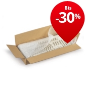 Braune flache Wellpapp-Faltkartons RAJABOX, 1-wellig