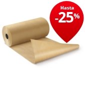 Papel kraft natural en rollos calidad 90 gr/m² RAJAKRAFT Super