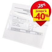 Pochette porte-documents adhésive transparente Rajalist Super