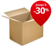 Caisses Rajabox en carton brun double cannelure à partir de 80 cm de long