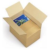 A4 Kartonnen dozen met variabele vulhoogte Variabox, bruin enkelgolfkarton