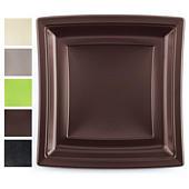 Assiette carrée couleur Quadripack grand modèle