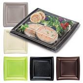 Assiette carrée couleur Quadripack petit modèle