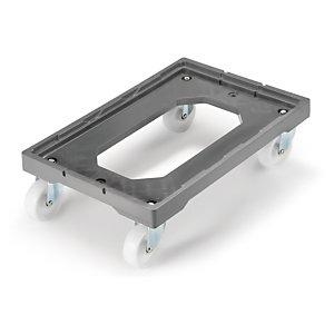 Base con ruedas para cajas norma europa rajapack - Cajas de plastico con ruedas ...