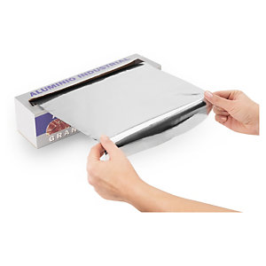 Papel de aluminio en caja distribuidora