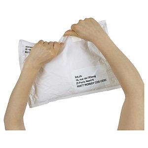 Bolsa de plástico opaca con fuelles