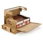 Bruine postverpakking met zelfklevende sluiting
