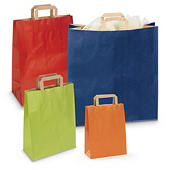Buste shopper in carta colorata con maniglie piatte RAJASHOP