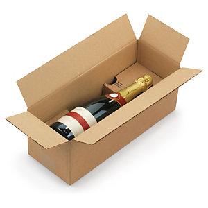 caisse carton brune d 39 exp dition pour bouteilles avec calage carton montage instantan. Black Bedroom Furniture Sets. Home Design Ideas
