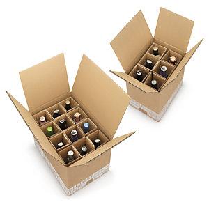 caisse carton brune d 39 exp dition pour bouteilles de bi re avec croisillons renforc s caisses. Black Bedroom Furniture Sets. Home Design Ideas