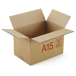 Caisse carton Galia simple cannelure avec rabats