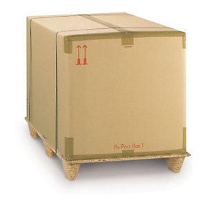 """Caisse carton brune triple cannelure traitement """"Crocodile"""""""