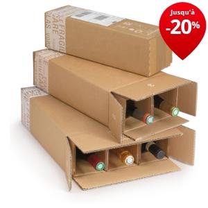 caisse d 39 exp dition pour bouteilles avec croisillons renforc s rajapack. Black Bedroom Furniture Sets. Home Design Ideas