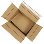 Caisse carton brune simple cannelure avec fermeture adhésive VARIABOX qualité Super format A4/A4+