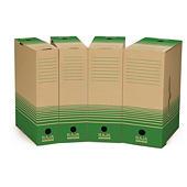 Caja de archivo marrón y verde reciclada RAJA