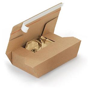 Caja con relleno de papel y cierre adhesivo
