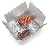 Caja de cartón blanca con interior isotérmico