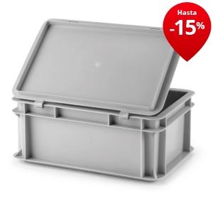 Caja norma europa gris rajapack - Caja almacenaje plastico ...