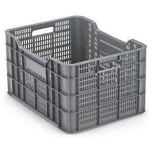 Caja de pl stico con rejilla rajapack - Caja almacenaje plastico ...