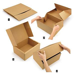 Caja plegable automontable
