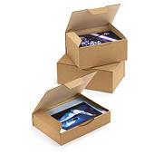 Caja postal en cartón marrón RAJAPOST formato A7, A6 y A5