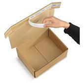 Caja postal con cierre adhesivo