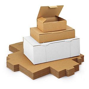 Caja postal pequeño formato RAJAPOST, marrón o blanca