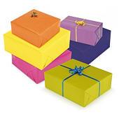Carta regalo colori luminosi in rotolo