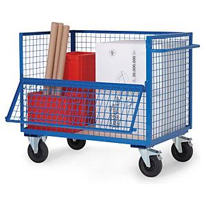 Chariot multi usage bas stockage et manutention raja - Chariot de jardin multi usage ...