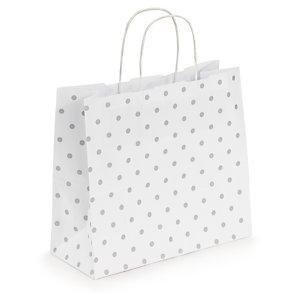 Classic polka dot Kraft paper carrier bags
