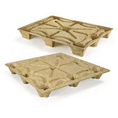 Container sized moulded wood pallets