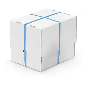 Witte dekseldoos met variabele vulhoogte in wit enkelgolfkarton