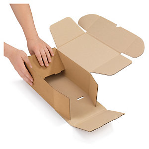 Easifold brown, fast assembly postal boxes