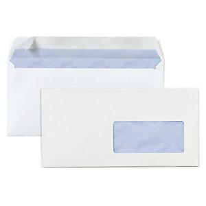 Enveloppe commerciale v lin blanc auto adh sive avec for Enveloppe fenetre
