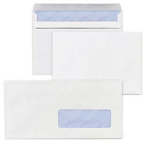 Enveloppe commerciale v lin extra blanc m canisable patte for Enveloppe avec fenetre