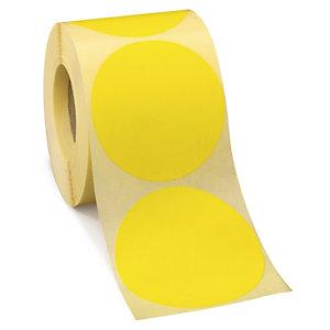 Etiquetas adhesivas redondas en color reposicionables 70 mm