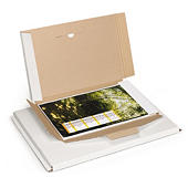 Extra-large, panel wrap cardboard mailers