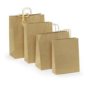 Voordelige draagtas uit kraftpapier rajapack for Papieren kraft zakjes