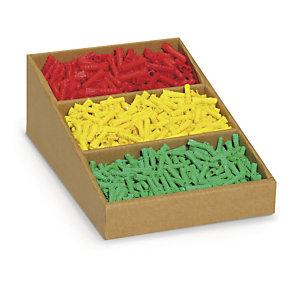 Karton-Regalkästen mit Fächerunterteilung