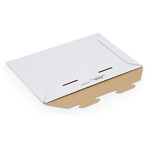 Karton-Versandtaschen RAJAMAIL, weiss