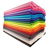 Bibuła gładka, prasowana, różne kolory 480 arkuszy 500x750 mm