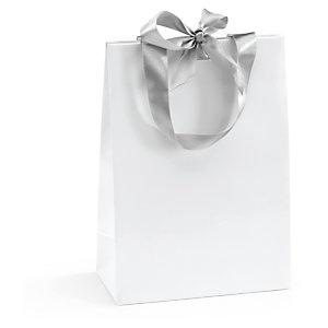 Lackpapier-Tragetaschen mit Satinschleife