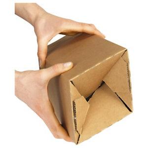 Lange kartonnen doos Teckelbox met automatische bodem