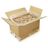 Palletiseerbare kartonnen doos voor gevaarlijke producten