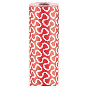 Papel de regalo rojo y blanco rajapack for Papel pintado rojo y blanco